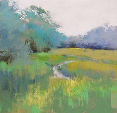 Green by Lyn Asselta Pastel ~ 12 x 12