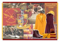 """""""Go Go Gryffindor!"""" by book-nerd-girl ❤ liked on Polyvore featuring arte"""