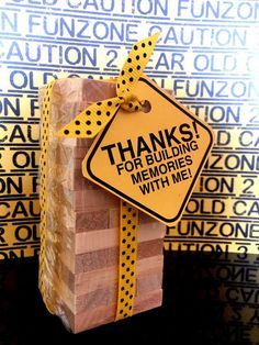 Construction Party Favor tags: SET of 20 SET OF Jenga game favor perfect for Construction Theme Party favor, Building. 2nd Birthday Boys, 2nd Birthday Party Themes, Birthday Party Favors, Birthday Banners, Farm Birthday, Birthday Ideas, Birthday Themes For Adults, Construction Party Favors, Construction Birthday Parties