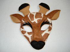 Children's GIRAFFE Felt Animal Mask by magicalattic on Etsy