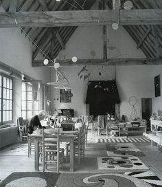 Alexander Calder in his home studio.  by Old Chum, via Flickr