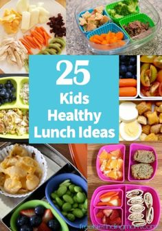 25 Kids Healthy Lunch Ideas - Finding healthy and delicious foods that the kids will actually eat can be a difficult task. These kid approved meals will please most any picky eater (and parent too).