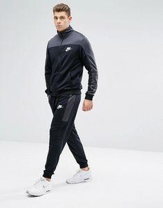 94db600b26 Nike   Conjunto de chándal estilo retro de punto de poliéster en gris  861774-060