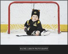 Children's Portraits / Bruins / Hockey / Toddler / Nantucket Ice / Rachel Larson Photography