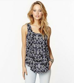 The perfect cool printed tunic for pairing with your fave jeans!