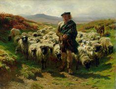 rosa bonheur artwork | ... Rosa Bonheur - The Highland Shepherd Fine Art Prints and Posters for