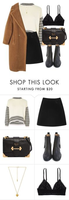 """""""Untitled #7135"""" by laurenmboot ❤ liked on Polyvore featuring Topshop, Simone Rocha, Prada, Acne Studios, Natalie B and Aerie"""