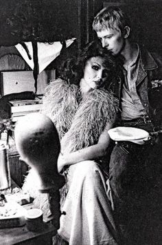 David Bowie and Romy Haag, Berlin, 1977
