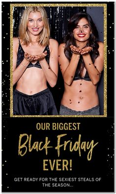 Victoria's Secret Black Friday 2018 Ads and Deals Browse the Victoria's Secret Black Friday 2018 ad scan and the complete product by product sales listing. Black Friday Ads, Best Black Friday, Victoria Secret Black Friday, Gym Pants, Online Shopping Deals, Big Black, Sexy Bra, Supermodels, Sportswear
