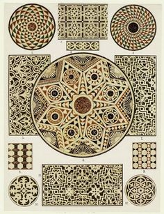 Byzantine marble mosaic floors, Cathedral of Ravenna & San Vitale, 1914-15.