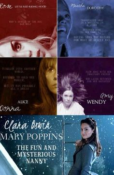 The Doctor's Companions; what fairytale girl they're most like. This is perfect. I had always thought of Amy and 11 as Wendy and Peter Pan! <3