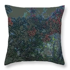All Throw Pillows - Berries Throw Pillow by Lovina Wright