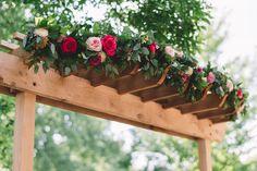 A Lush Garden Wedding at Nicollet Island Inn in Minneapolis, Minnesota Island Inn, Lake Tahoe Weddings, Floral Garland, Lush Garden, October Wedding, Garden Wedding, Natural Wood, Landscape Design, Wood Projects