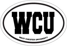 W Chester Artist ... great sticker at Carstickers.com! West Chester University Oval Sticker