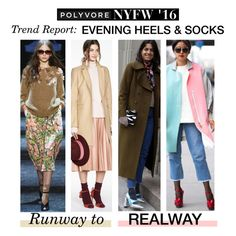 """Runway to Realway: Evening Socks and Sandals"" by polyvore-editorial ❤ liked on Polyvore featuring women's clothing, women, female, woman, misses, juniors, NYFW and pvnyfw"