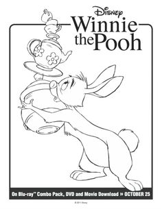 Disney Winnie the Pooh: Rabbit Printable Coloring Page
