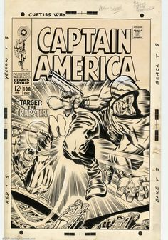 Captain America vol. 1 #108 (December, 1968). Cover by Jack Kirby.