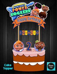 MiniBeat Power Rocker Cake Topper,MiniBeat Power Rocker Birthday,MiniBeat Power Rocker Party,MiniBeat Power Rocker Printable 2nd Birthday, Birthday Parties, Happy Birthday, Baby Beat, Rocket Cake, Rocket Power, Baby Rocker, Ideas Para Fiestas, Cake Toppers