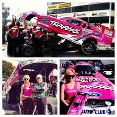 Courtney Force's pink Traxxas car