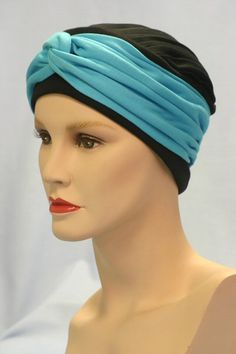 The Anna hat with a Duck Egg Blue Wrap