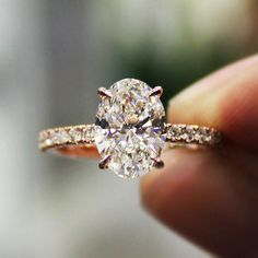 2.30 Ct. Natural Oval Cut Pave Diamond Engagement Ring - GIA Certified #DiamondMansion #Pave