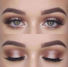 awesome 46 Stunning Shimmer Eye Makeup Ideas 2018 www. awesome 46 Stunning Shimmer Eye Makeup Ideas 2018 www. awesome 46 Stunning Shimmer Eye Makeup Ideas 2018 www. Wedding Makeup Tips, Natural Wedding Makeup, Natural Makeup Looks, Day Makeup Looks, Prom Make Up Natural, Make Up Prom, Natural Makeup Look Tutorial, Natural Eyeshadow Looks, Wedding Makeup Tutorial