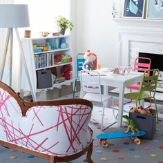 Homeroom Kids Play Chair (Lime) | The Land of Nod