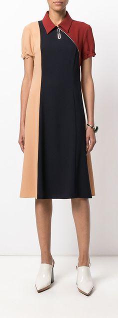 MARNI colour blocked dress, explore the latest new season pieces on Farfetch now.
