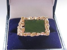 C 1960 Vintage Mens Genuine JADE In 14kt | Vintageartjewelry - Jewelry on ArtFire
