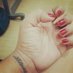 Red nails #polish #tattoo #blessed Red Nails, Fish Tattoos, Blessed, Polish, Instagram, Red Toenails, Enamel, Manicure, Red Nail