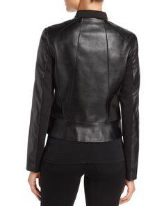 T Tahari Oriana Faux Leather Jacket