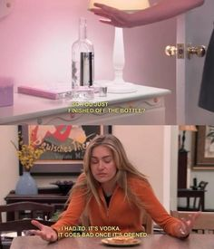 """Vodka goes bad once it's opened."" Lindsay Bluth - Arrested Development"