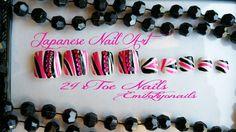 Toes Nails24x,Japanses Nails Art,False nails,Press on nails+glue