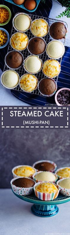 Making these soft, light, spongy Japanese steamed cake (Mushi-pan) is super easy, enjoy them as a healthy breakfast or after-school snack.