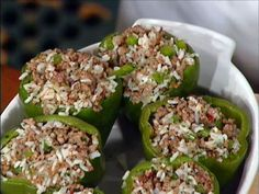 Mr. John's Meat-Stuffed Bell Peppers recipe from Emeril Lagasse via Food Network