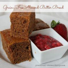 FAST Almond Butter Bread #paleo #grain free #gluten free