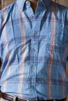 25e0c3ff908 Vintage Short Sleeved India Madras Shirt (Made in USA).  42.00