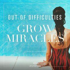 Di balik setiap kesulitan yg telah dilalui sesungguhnya ada keajaiban yang sedang terjadi