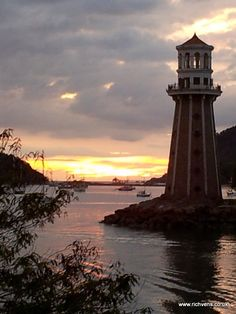 From my Asian travels - Langkawi, Malaysia... This lighthouse-styled tower is used as guidance for vessels coming into Telaga harbour
