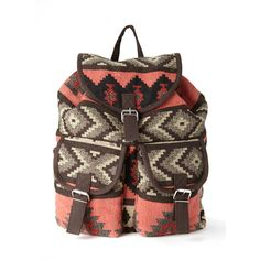 Forever 21 Rustic West Backpack ($17) ❤ liked on Polyvore featuring bags, backpacks, accessories, forever 21, light weight backpack, day pack backpack, patterned backpacks, print backpacks and forever 21 backpacks