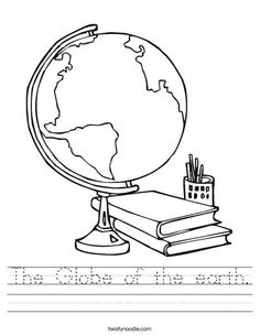 School Supplies coloring page for children back to school