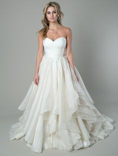 Discount Elegant Sweetheart Backless Ball Gown 2015 Wedding Dresses Ivory Layers Organza Bridal Gowns with Covered Button Online with $113.09/Piece on Flodo's Store   DHgate.com