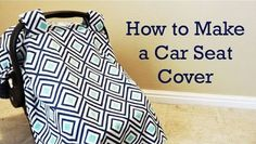 Car seat cover - cover photo | Sewing Project | DIY Comfy Baby Car Seat Cover To Keep Your Baby Feel Warm And Safe