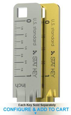 Inch ruler key