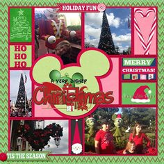 In the Pocket Xmas by Kellybell Designs In the Pocket Xmas Papers by Kellybell Designs In the Pocket Xmas Extras by Kellybell Designs Holly Jolly Word Art by Kellybell Designs Font: Waltograph Template: Pocket Story Vol. 1 by Kellybell Designs Christmas Scrapbook Layouts, Disney Scrapbook Pages, Scrapbooking Ideas, Travel Scrapbook, Disneyland Christmas, Disney Christmas Ornaments, Christmas 2019, Mickey's Very Merry Christmas, Walt Disney World Vacations