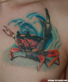 Crab Tattoo -See more stunning Tattoo Design at stylendesigns.com