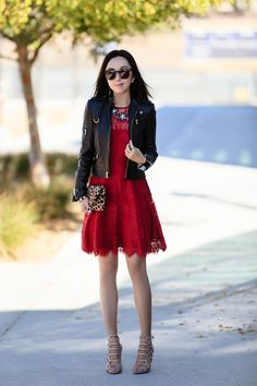 HOLIDAY RED LACE - FitFabFunMom