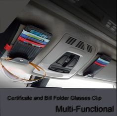 5 Types Credit Card Holder case, Carbon Fibre PU certificate and bill folders, Glasses clip  for 1 3 5 7 Series GT