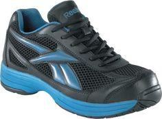 Reebok Men s Black   Blue Steel Toe Cross Trainer Athletic Shoe www. 95d07df93