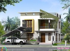 New house plans australian double story Ideas Indian House Plans, New House Plans, Dream House Plans, Home Modern, Modern House Design, Contemporary Homes, Double Story House, House With Balcony, House Design Pictures